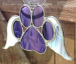 sun catcher stained glass paw with wings suncatcher patterns