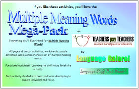 multiple meaning words activities worksheets word lists and multiple meaning words activities worksheets word lists and more language stuff
