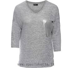 Bodyflirt Grigio Maglia Bonprix Autunno Taschino Metal Qi83315