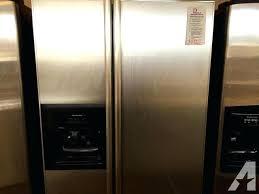 kitchenaid side by side refrigerator cu ft counter depth