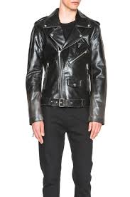 image 2 of blk dnm fade out effect leather jacket in antique leather black