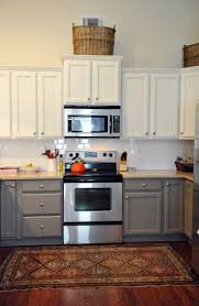 Paint Kitchen Cabinets Gray Two Tone Kitchen Cupboards Amys Office