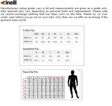 Cinelli Cycling Size Guide