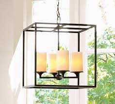 pottery barn s monroe pillar chandelier 299 00