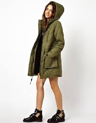 ASOS | ASOS Quilted Parka With Borg Lining & Oops! Adamdwight.com