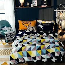 plaid flannel duvet yellow black and white plaid flannel duvet cover set twin queen king bedding