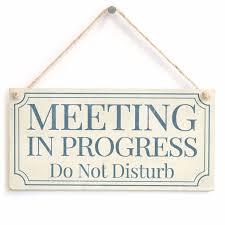 Do Not Disturb Meeting In Progress Sign Meijiafei Meeting In Progress Do Not Disturb Home Accessory Gift
