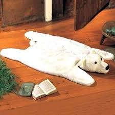polar bear rug for real with head recycled faux bearskin rug fake bear