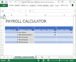 Calculate Payroll Taxes Free Free Paycheck Calculator Template For Excel 2007 2016 Template Wave