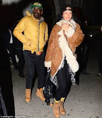Rihanna just broke up with her billionaire boyfriend because she's tired of men. Rihanna Wraps Up In Winter Coat As She Steps Out For Dinner In New York Daily Mail Online