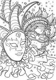 Coloring For Adults Kleuren Voor Volwassenen Carnaval Coloring