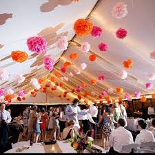 Paper Flower Balls To Hang From Ceiling Love The Flower Balls Hanging From The Ceiling Wedding