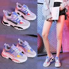 Yesstyle Shoe Size Chart Platform Color Panel Lace Up Athletic Sneakers