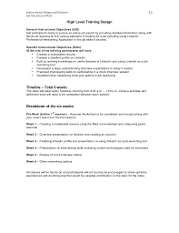 On Job Training Objectives Get The Job You Want Training Design Document