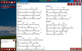 Chord Chart Builder Chord Chart Software Worship Software Chord Chart