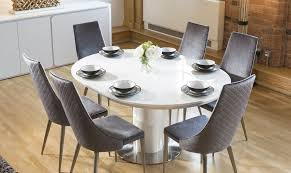 and extending table round white set curva bianca dining glamorous chairs high gloss rooms remarkable 6