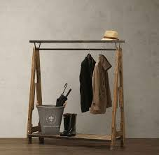 2018 american boutique american retro to do the old wrought iron wood floor coat rack clothing rack hangers from zhoudan5245 478 47 dhgate com