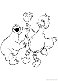 View Big Bird Coloring Pages Background