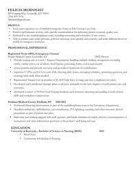 ... Nurse Resume Examples Without Experience Profile Professional  Experience Registered Nurse Rn Emergency Or Trauma Education Nursing ...
