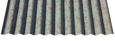 7 8 corrugated copper patina