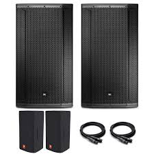 jbl powered speakers. jbl professional 2 srx835 + free covers and 50\u0027 pro xlr cables thumbnail jbl powered speakers