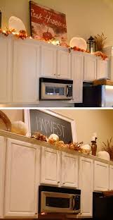 decorating above kitchen cabinets. Unique Decorating Decorate Your Fall Kitchen You Can Start From The Over Cabinet Space On Decorating Above Kitchen Cabinets R