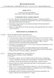 Investment Analyst Resume Investment Banking Analyst Resume