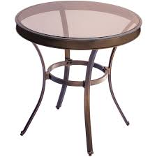 crossman piece outdoor bistro: traditions piece bistro set in tan with  in glasstop table traddnpcg