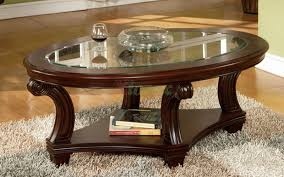 wood base glass top coffee table unique oval glass side table furniture round espresso coffee wood