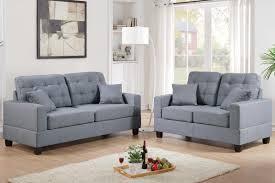 fabric sofa set. Anse Grey Fabric Sofa And Loveseat Set R