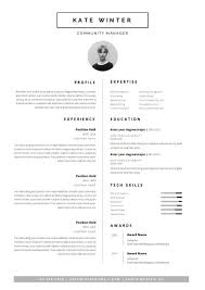 Modern Resume Template Oddbits Studio Free Download Minimalist Resume Template Cover Letter Icon Set For Microsoft