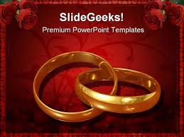 Wedding Powerpoint Template Free Golden Rings Wedding Powerpoint Template 0610 Ppt Images Gallery