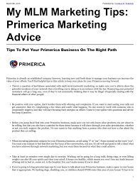 Primerica Financial Tips To Put Your Primerica Business On The Right Path Primerica