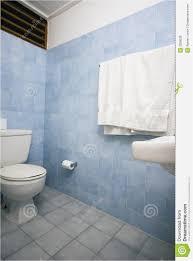 Blue Bathroom Tiles Image New Bathroom with Blue Tile Stock Photo