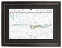 Noaa Charts Florida Keys Framed Nautical Chart Gulf Coast Florida Keys Grassy Key To Bahia Honda Key
