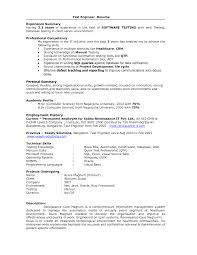 Sample Resume For Selenium Automation Testing Resume Template Qtp Sample Resume For Software Testers Free 22