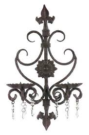 iron wall sconces for candles sconce elegance candle holder with crystal uk