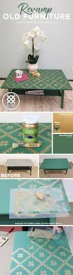 cutting edge furniture. Cutting Edge Stencils Shares How To Makeover A Coffee Table Using Green And Gold Paint Furniture