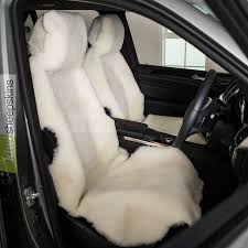 sheepskin car seat covers shorn version in white