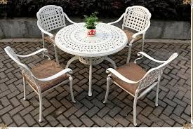 rust proof outdoor dining table set
