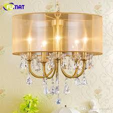 fumat k9 crystal chandeliers lightings nordic k9 crystal lamp for living room dining room art deco lamp fabric led chandeliers k9 crystal chandeliers