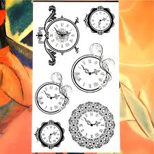 Nu Taty Wise Time Circle Clock Temporary Tattoo Body Art Arm Flash Tattoo Stickers 1710cm Waterproof Fake Painless Tattoo