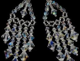 preciosa crystal beaded chandelier earrings crystal chandelier earrings crystal tiered chandelier earrings chandelier