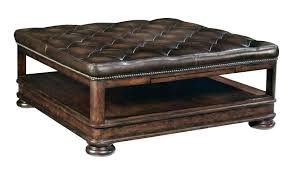 tufted leather coffee table ottoman with drawers zebra tufted leather coffee table end tables round square