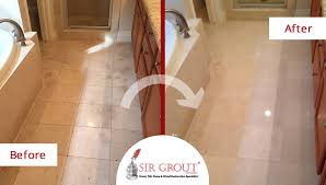 stone cleaning refreshes this houston homeowner s grimy shower and marble bathroom floor