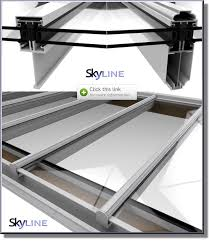 our skyline range of glazing bars offer an economical roof glazing solution incorporating slim sightlines the glazing bar s strength is provided by an