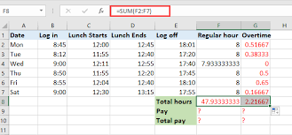 Overtime Calculation In Excel Format How To Quickly Calculate The Overtime And Payment In Excel