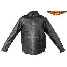 pullover leather shirt mens zoom