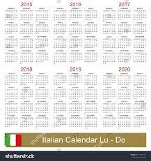 Italian Calendar For Years 2015 2020 Stock Photo 217247779