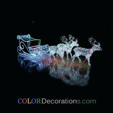 reindeer and sleigh outdoor decoration peaceful design ideas decorations wooden glittering lighted